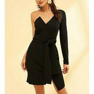 🌿LAST ONE🌿VIVA | One Shoulder Tie Waist Dress
